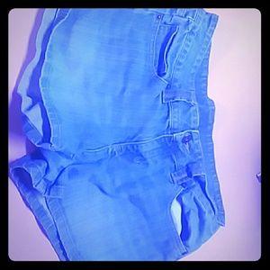 Polo shorts blue jean